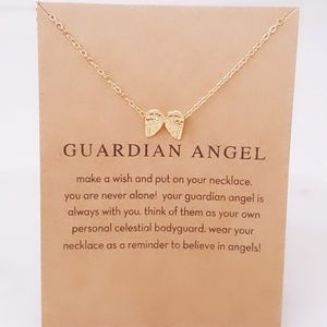 Guardian Angel Gold Necklace